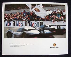 PORSCHE-OFFICIAL-993-911-GT1-LE-MANS-FRIENDS-RACECAR-SHOWROOM-POSTER-1998