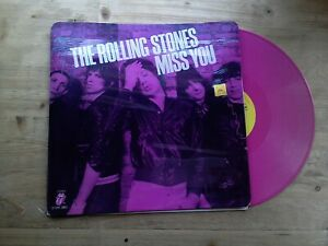 The-Rolling-Stones-Miss-You-Near-Mint-12-034-Single-PINK-Vinyl-Record-12-EMI-2802