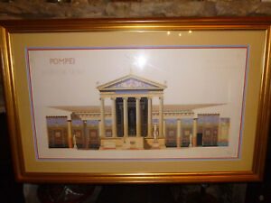 POMPEII-ITALY-Art-Print-TEMPLE-DE-VENUS-Large-Picture-Francois-Wilbrod-CHABROL