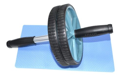 ABS Roller Wheel /& Knee Protection Mat-Core Exercise Fitness Workout Equipment