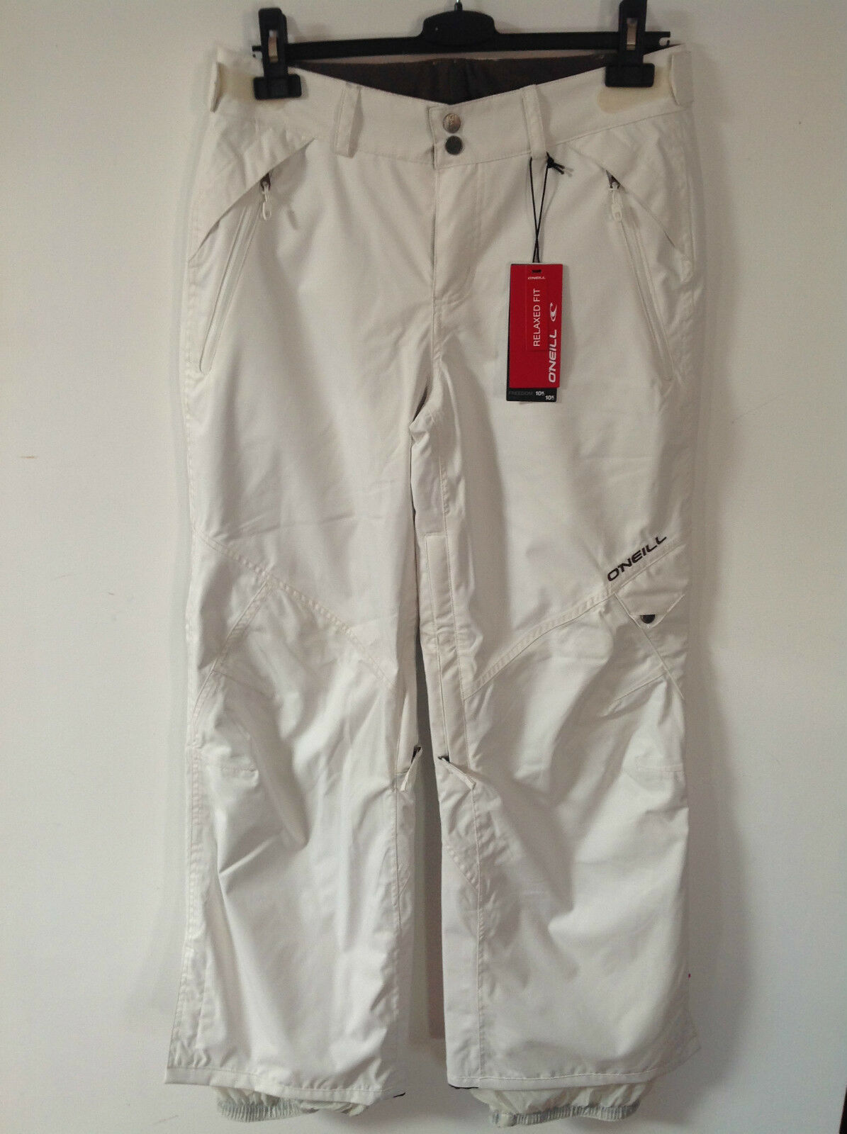 O'NEILL POWDER WHITE FREEDOM SERIES RELAXED FIT SKI TROUSERS  S   .99   BNWT