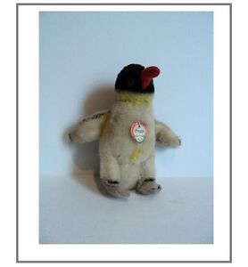 "1950's Vintage Steiff Orginial PEGGY Penguin 8""- tag around neck/button in arm"