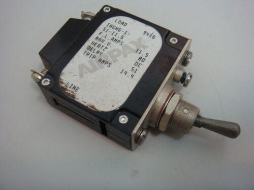 AIRPAX IUGN6151115// IAGN6-1-51-11.5  80V DC 11.5A Circuit Breaker