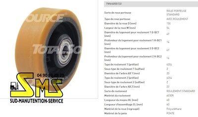ROUE STABILISATRICE STILL EXU H AC EXUH 125 40 46 15 mm PIECE GERBEUR ELECTRIQUE