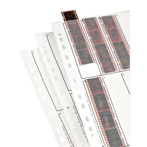 Hama Negativos Mangas de papel 10 Tiras 4 negativos 24x36mm Pack 25 vertical