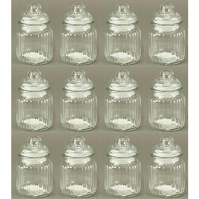 12 Stück Vorratsgläser H 13 cm Vorratsglas Vorratsdosen Gewürzgläser Bonboniere