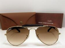 New Authentic Ray Ban Sunglasses RB 3422-Q 001/51 Leather RB 3422 Q Italy 58mm