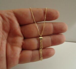 14K-Amarillo-Oro-sobre-plata-esterlina-925-Colgante-de-Cuentas-de-Colgando-Trio-20-034