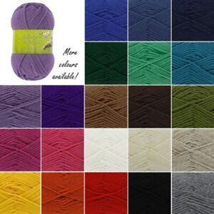 King-Cole-Merino-Blend-DK-Knitting-Yarn-Double-Knit-Wool-Crochet-50g-Ball
