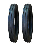 2 Ford 8n 9n 4.00-19 4-19 Crop Max 3-rib Front Tractor Tires Free Shipping