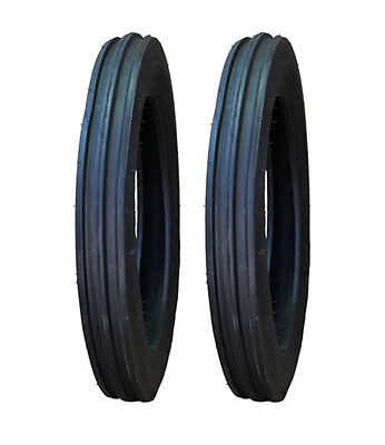2 Ford 8N 9N 4.00-19 4-19 Speedways Front Tractor Tires & Tubes FREE Shipping