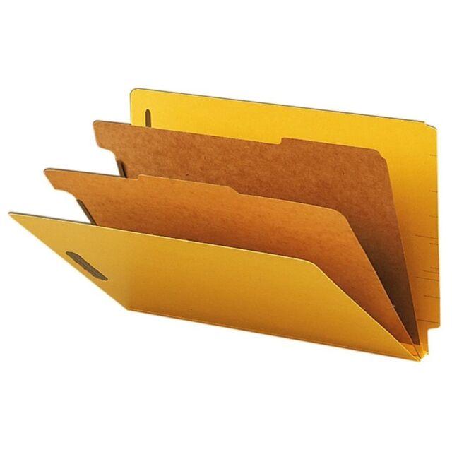 Smead ET Classification Folders legal size 2 Partitions end tab filing  10 count