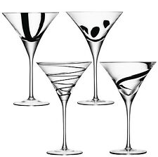 LSA Jazz Cocktail Glass   Assorted Black   Set Of 4