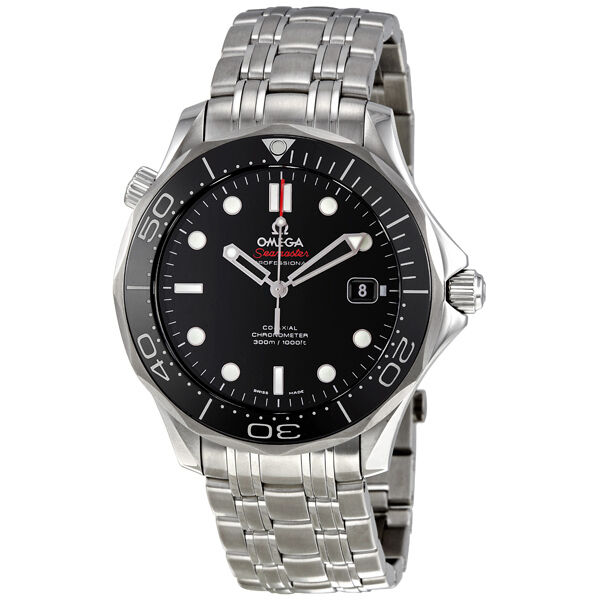 Omega Seamaster Black Dial Automatic Steel Mens Watch 212.30.41.20.01.003