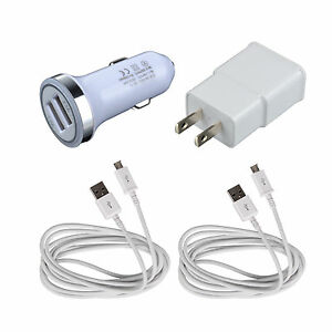 48ece4eb8de Wall Charger+Car Adapter+2x Cable For Samsung Galaxy Tab S2 4 E A ...