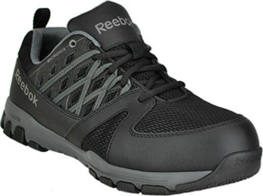 Reebok Steel Toe Sublite shoes-Black, EH Rated, Slip Resistant, EVA Midsole WIDE