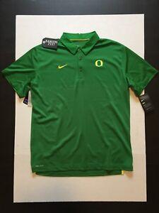 7a0b2b02 Nike Oregon Ducks Dri-Fit Elite Apple Green Polo Shirt Men's Size L ...