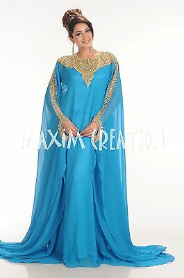 DESIGNER WEDDING GOWN BRIDESMAID HAND EMBROIDERED Arabian DRESS 4164