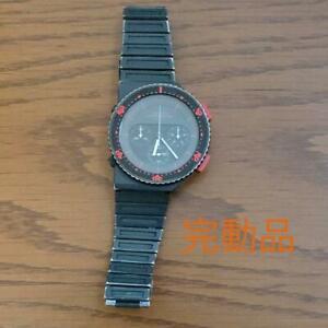 Seiko-Speedmaster-Giugiaro-model-Quartz-7A28-6000-Chronograph-Vintage-wl10257