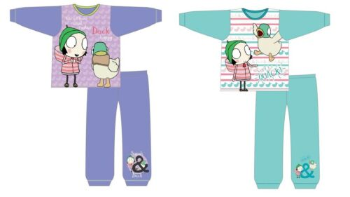 Girls Kids Sarah and Duck Pyjamas PJs Nightwear 18 months to 5 Years Purple