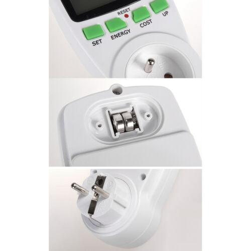 Wattmeter Energieverbrauch Messgerät Stromzähler Steckdose Schuko Typ C Typ E