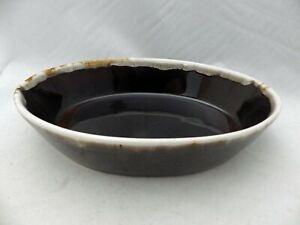 Pfaltzgraff-Gourmet-Brown-pattern-Oval-Baker-dish-10-034-retired-1987-EUC