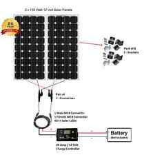 Solar Cynergy 320 Watt Kit TWO 12 Volt Mono Solar Panels 160 W Watt PV Panels