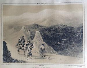 GRANADA-CAMINO-DE-GUADIX-Lit-original-de-Parcerisa-1839-1865