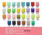 U Pick Alva Baby Reusable Washable Cloth Pocket Diapers Nappies +1INSERT Lot