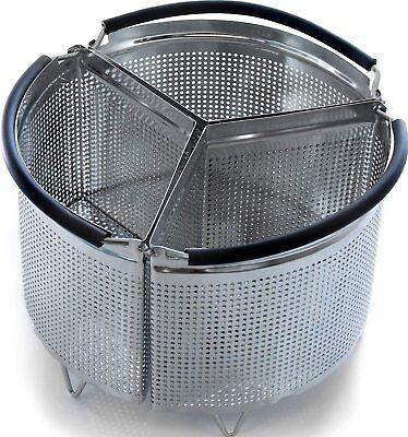Genuine Hatrigo 6-Quart Instant Pot Accessories Divided Steamer Basket Accessory