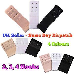 2 Hook Bra Extender 3 Colours Ladies Bra Extension Strap Strapless Underwear UK