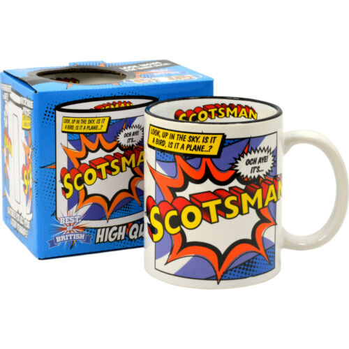 Scotsman Mug Scottish Scotland Superman Mug Super Hero Coffee Tea Cup Gift Him