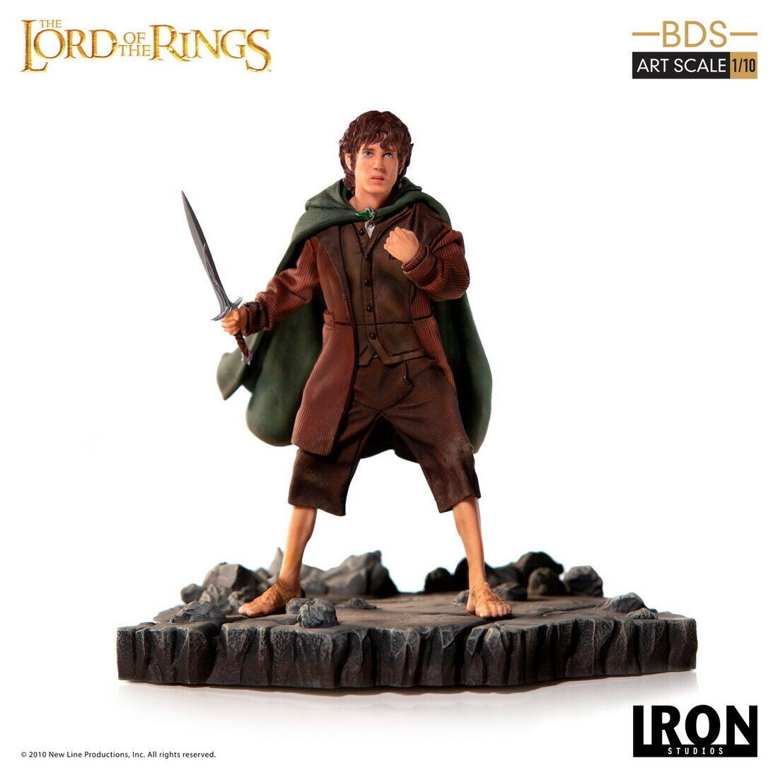 Iron Studios Lord of the Rings Hobbits Frodo Baggins BDS Art Scale 1/10 Statue on eBay thumbnail