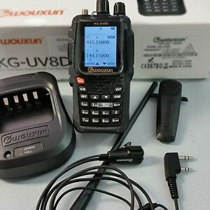 WOUXUN KG-UV8D PLUS lion+ear/mic VHF/UHF full duplex+cr.ba rpt 23075