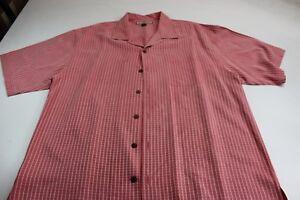 Tommy-Bahama-100-Silk-Nantucket-Pink-Pattern-Pocket-CAMP-SHIRT-XL-Extra-Large