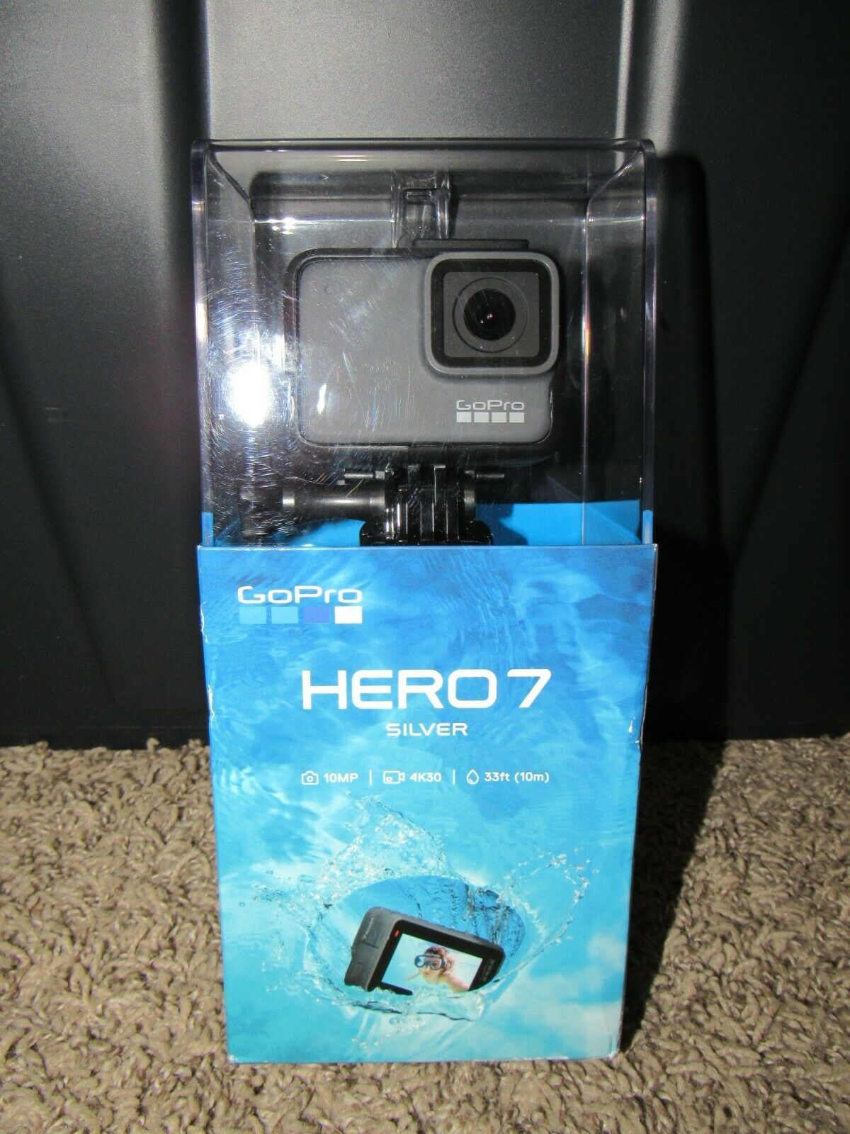 Go Pro HERO 7 SILVER Edition Waterproof Action Camera 4K30  NEW SEALED IN BOX !! action box camera edition hero pro sealed silver waterproof