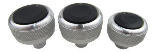 Alu Chrome Interrupteur Commutateurs Rotatifs Régulateur Set Chauffage Climat ac Ventilation #2 Pour VW
