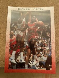 MICHAEL-JORDAN-Chicago-Bulls-NBA-Basketball-034-Glossy-034-PROMO-Vintage-NMMT-Card