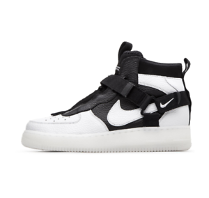 Details about Nike Air Force 1 Utility Mid Men's New Off White Black AF1 Sneakers AQ9758 100