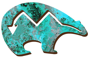 Wall Bear Fetish/Bear Claw-Turquoise Indian SOUTHWEST Decor Petroglyph Decals