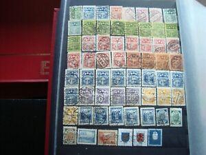 Lettland-62-Gestempelte-Briefmarken-Alles-Staat