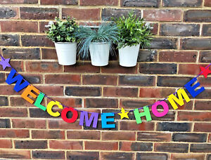 PERSONALISED-WELCOME-HOME-BANNER-BUNTING-DECORATION-MULTI-COLOUR-NEW-ARRIVAL