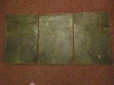VINTAGE SLATE ROOF SHINGLES 12 x 18 ART PAINTING DECO  FARMHOUSE SET of 3