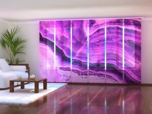 """Intelligent Fotogardinen """"violet A"""" Schiebevorhang Schiebegardinen Vorhang Gardinen Auf Maß Fashionable And Attractive Packages Curtains, Drapes & Valances Window Treatments & Hardware"""