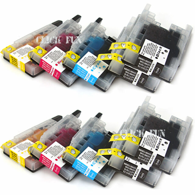 10x Ink Cartridge LC-40 LC-73 LC-77 For Brother Printer DCP J525W J725DW J925DW