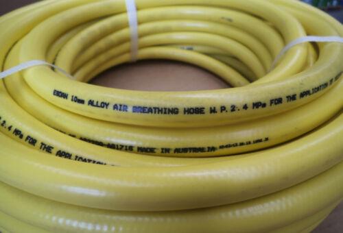 Divers Air breathing Diving Hookah hose 10mm x 50m coil Yellow Esdan Australian