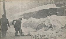 Amsterdam NY * Huge Snowstorm Feb. 14, 1914 Trolley * Montgomery Co.