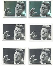 "2013 TOPPS 75TH. JOHN F. KENNEDY. REPRINTS 1964 CARD #31. 2 ""FOIL"" & 4 ""BASE"""