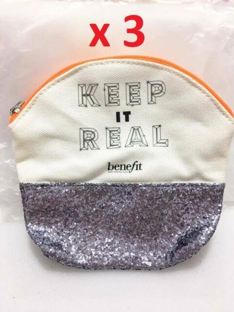 LOT 3 X Benefit Cosmetics Keep it Real Glitter & Canvas ...