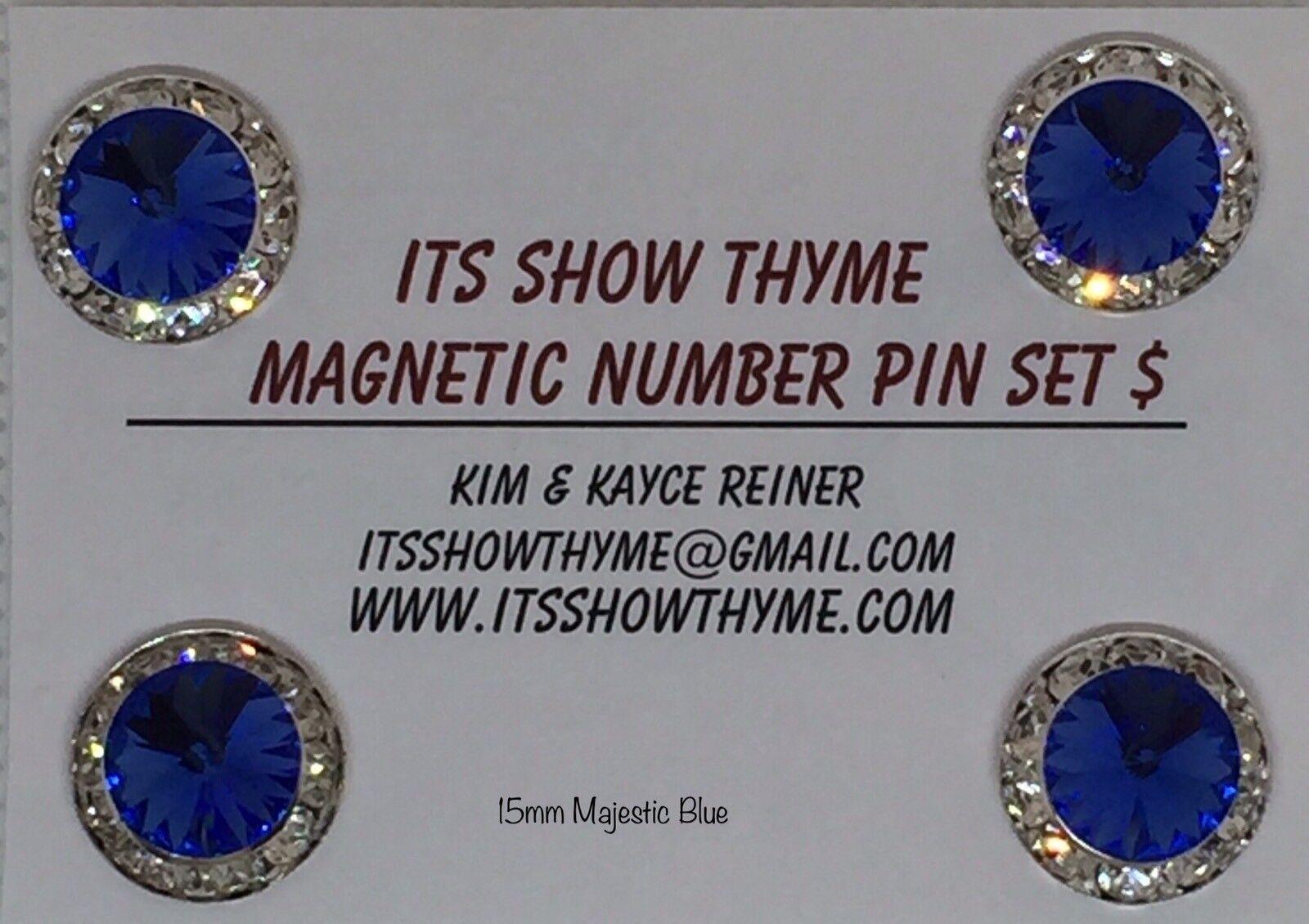 Número de competencia titular Barn Pack-imán número PIN - 15MM 10 conjuntos